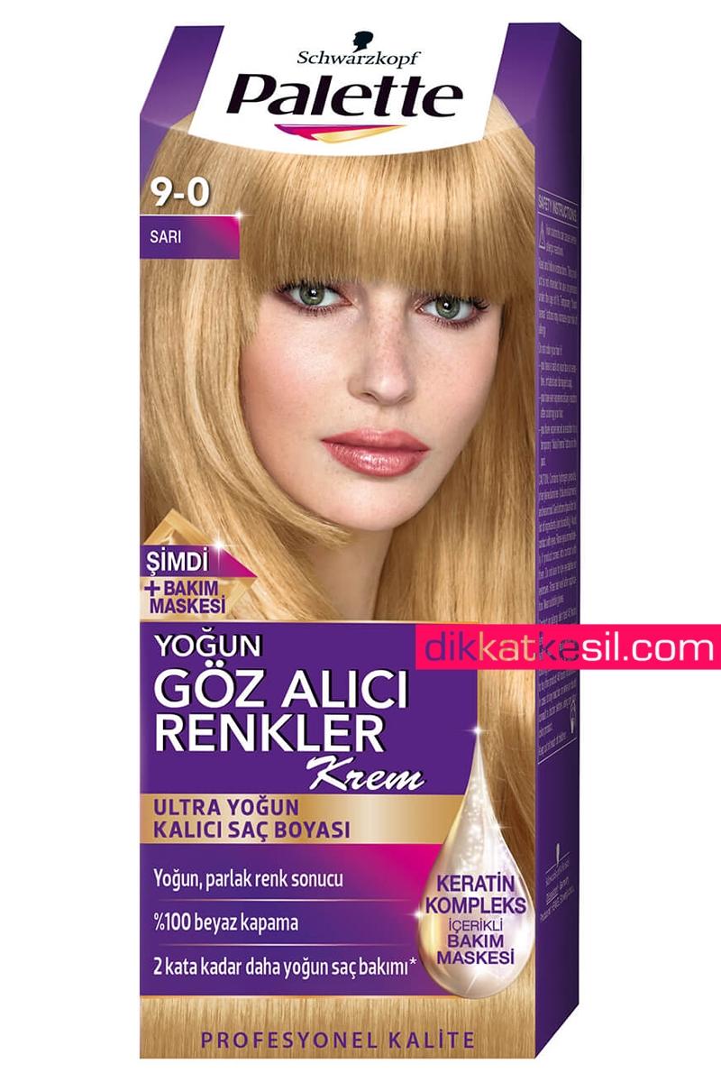 Palette 90 Sarı Göz Alıcı Renkler Kalıcı Saç Boyası Saç Boya